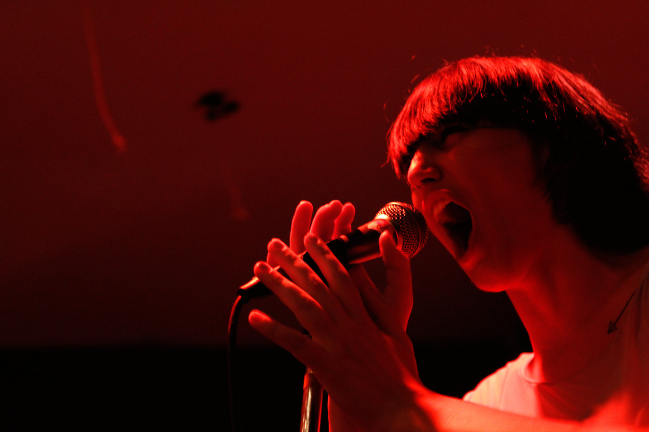 Joanna Gruesome plays at Shea Stadium in Williamsburg, Brooklyn, NY on Aug. 26, 2014.