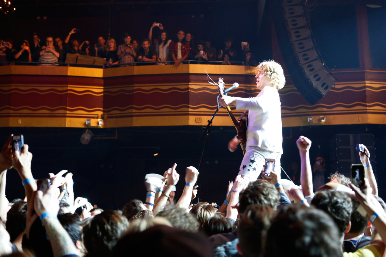 Ty Segall plays at Webster Hall in  New York NY on Sept. 18, 2014.