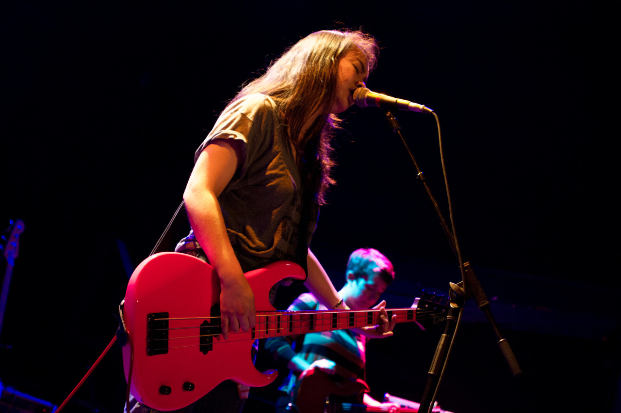 Mitski plays at Bowery Ballroom, in New York, NY on Apr. 25, 2015. (© Michael Katzif - Do not use or republish without prior consent.)