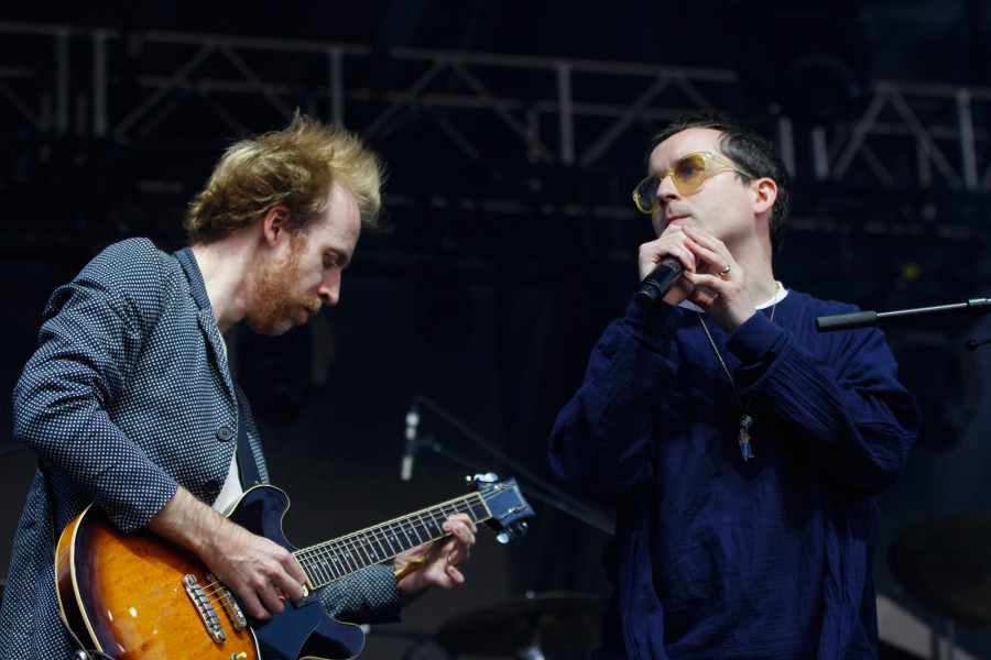 Hot Chip performs on the Big Apple Stage at Governors Ball on Randall's Island, New York, on June 7, 2015. (© Michael Katzif – Do not use or republish without prior consent.)