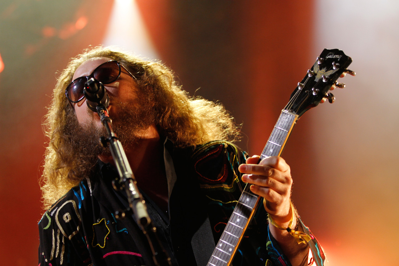 My Morning Jacket's Jim James performs on the Honda Stage at Governors Ball on Randall's Island, New York on June 5, 2015. (© Michael Katzif – Do not use or republish without prior consent.)