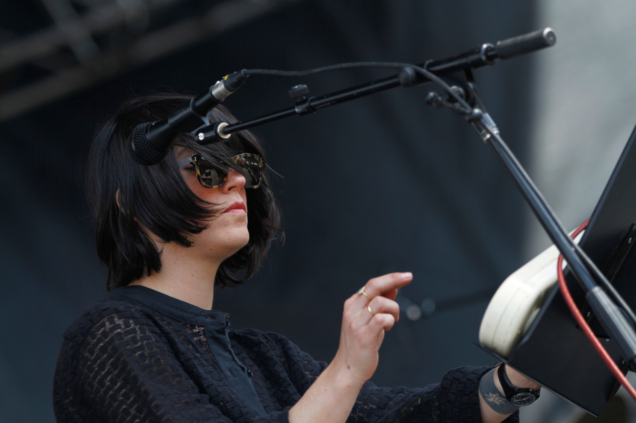 Sharon Van Etten performs on the Big Apple Stage at Governors Ball on Randall's Island, New York, on June 6, 2015. (© Michael Katzif – Do not use or republish without prior consent.)
