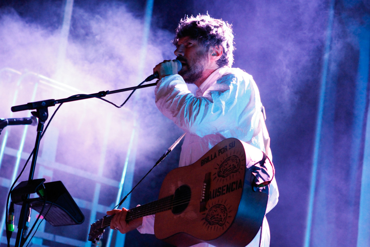 Super Furry Animals performs at Village Voice's 4Knots Festival at Pier 84 in New York, NY on July 11, 2015. (© Michael Katzif – Do not use or republish without prior consent.)
