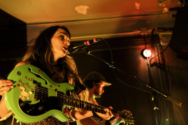 Speedy Ortiz plays at Market Hotel in Bushwick, Brooklyn, New York on Nov. 2, 2017. (© Michael Katzif - Do not use or republish without prior consent.)