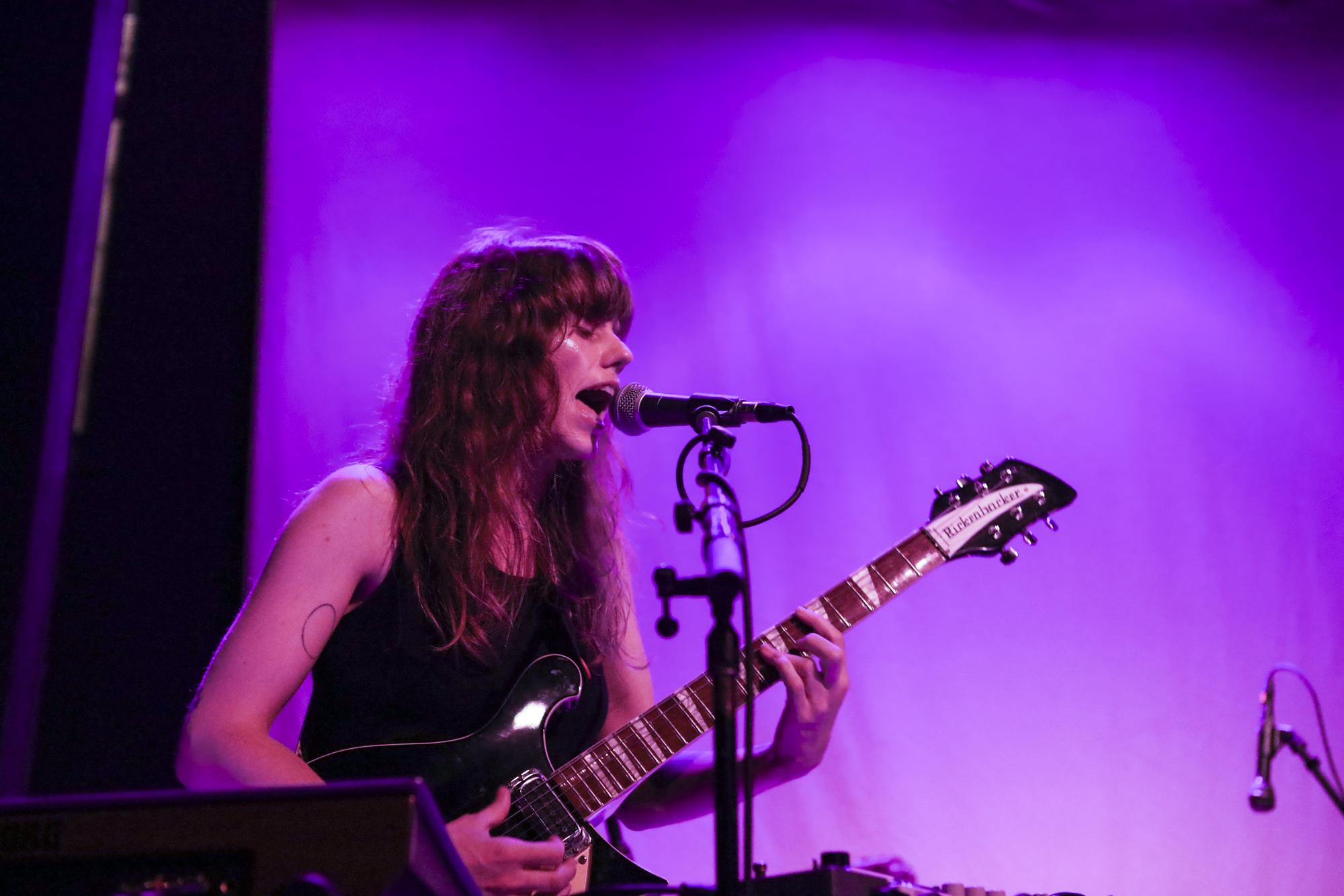 Katie Von Schleicher plays during Northside Festival at Rough Trade in Williamsburg, Brooklyn, New York on June 8, 2018. (© Michael Katzif - Do not use or republish without prior consent.)