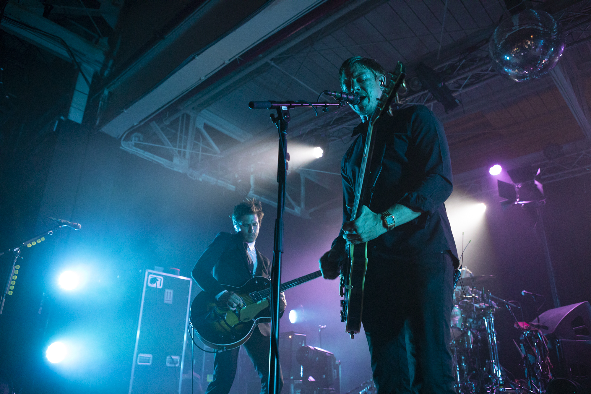 Interpol celebrated the release of its new album 'Marauder' at House of Vans' final show before closing down after a 8-year run in Greenpoint, Brooklyn, New York on Aug. 24, 2018. (© Michael Katzif - Do not use or republish without prior consent.)