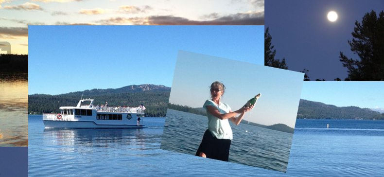 Payette Lake Sunset Moonrise Birthday Cruise