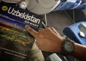 Flying to Tashkent