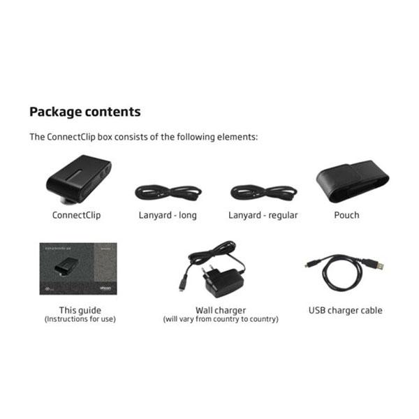 oticon connect clip box contents