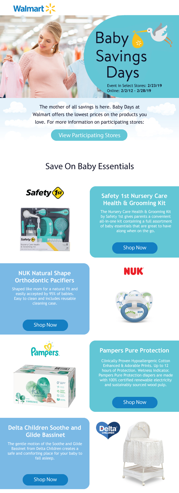 Baby Savings Days Walmart