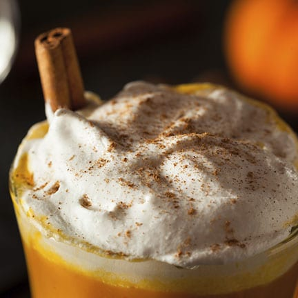 Hot Pumpkin Spice Latte