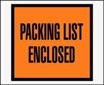 Packing List Enclosed