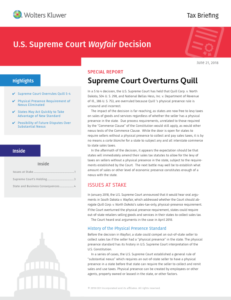 CCH Tax Briefing: U.S. Supreme Court Wayfair Decision
