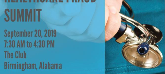 2019 Alabama Healthcare Fraud Summit