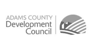 Adams county development council logo.
