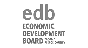 Logo for economic development board in Tacoma Pierce County.