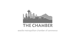 Seattle metropolitan chamber of commerce logo.