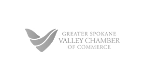 Greater Spokane Valley Chamber logo.