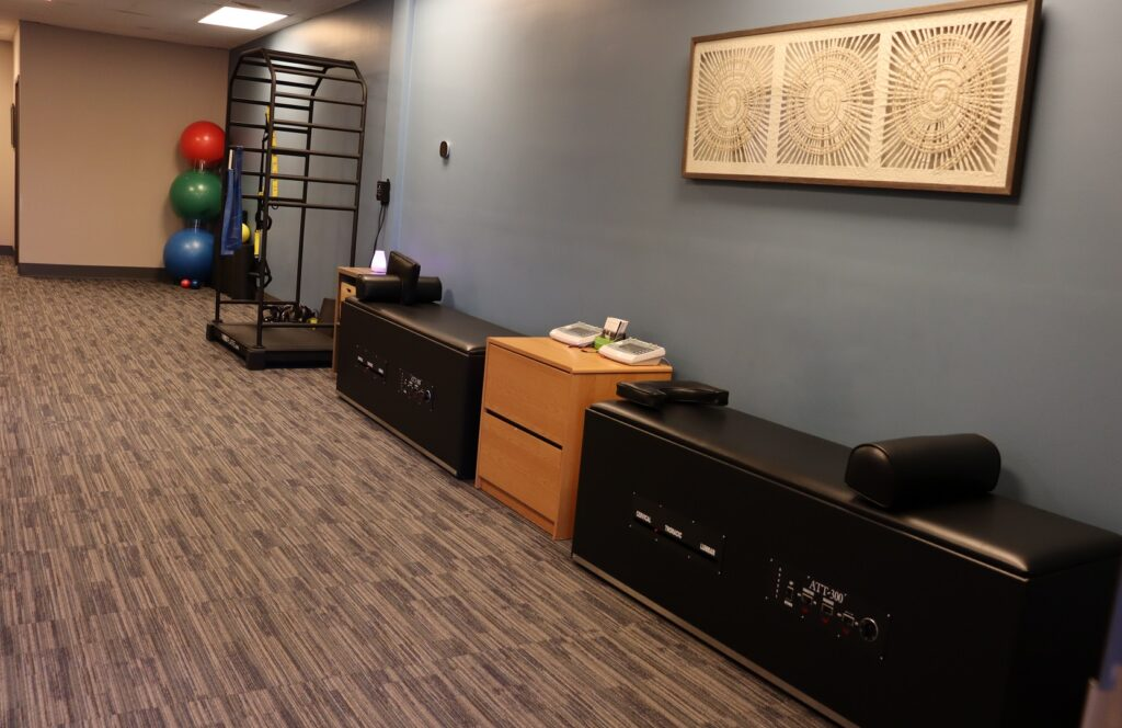 Main Rehab area of Back ON Track Chiropractic And Acupuncture