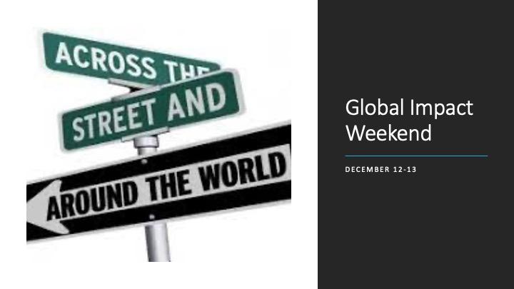 Global Impact Weekend