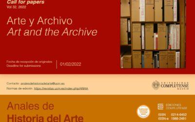 CFP: Arte y Archivo