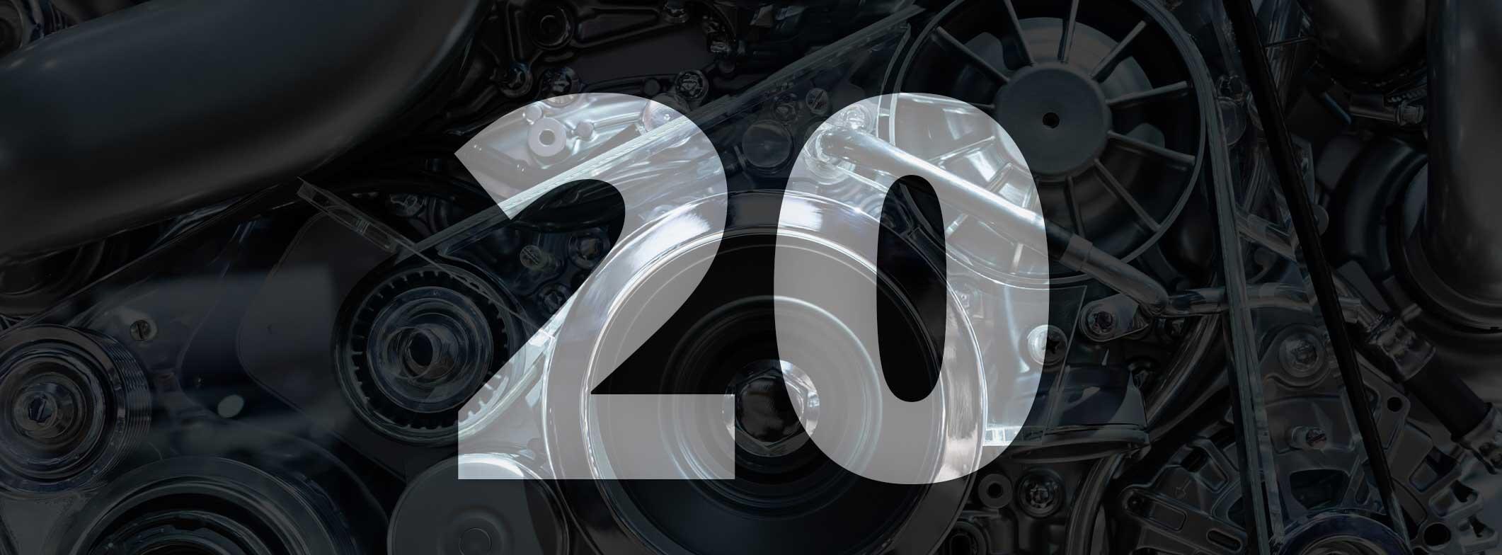 20 años vendiendo repuestos de autos