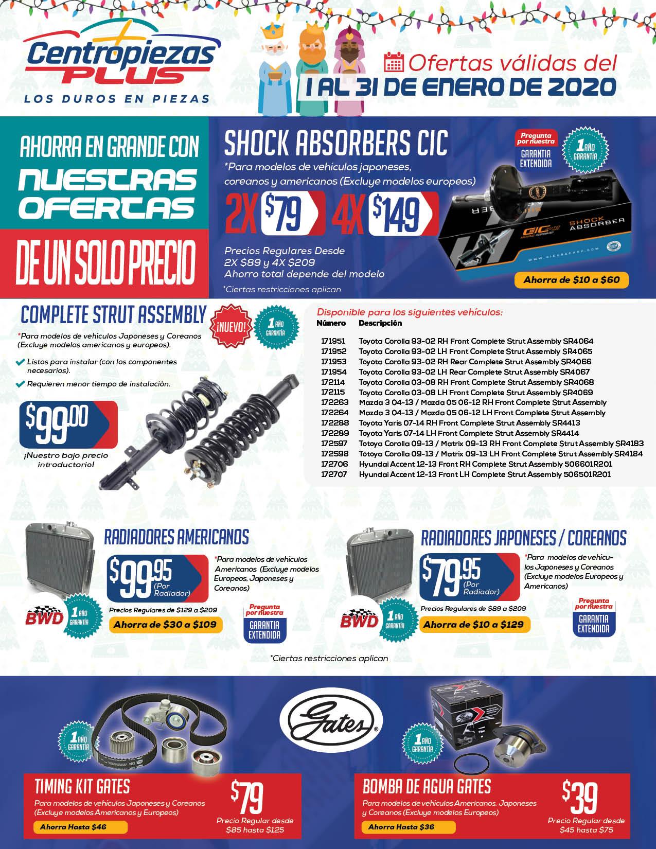 Centropiezas Plus shopper enero 2020