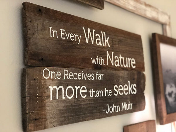 wall sign, wall art, home decor, rustic sign, office decor, reclaimed wood, wood pallet, handmade, rawwood, woodwork, custom sign, interior design, john muir sign, custom wood signs, personalized reclaimed wood signs, custom wood logo signs, logo signs, rustic company logo sign, wooden sign logo, custom quote sign, wall signs, brand signs, artistic signs, unique signs, rustic wood signs