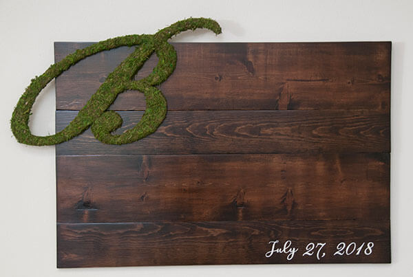 rustic wood signs, Custom rustic signs, reclaimed wood signs, custom signs, quote signs, Phrase signs, custom quote signs, custom phrase signs, wedding sign, wedding seating sign, wedding sign in board, rustic sign in board, moss covered logo, wedding moss