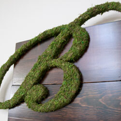 Custom rustic wood sign, Custom sign, monogram, moss covered letter, Wedding sign, rustic wood sign, wedding table sign, wedding welcome sign, custom wedding sign, rustic wedding sign, guest sign in, wedding guest sign in