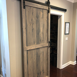 sliding barn door, farm door, barn wood furniture, custom sliding barn door, barn wood furniture, reclaimed wood sliding door, urban garden studio