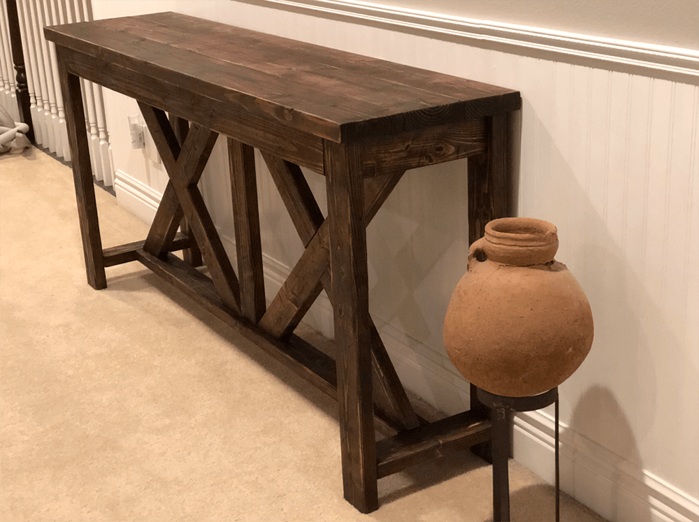 reclaimed wood table, wood table, wood console table, barn wood furniture, farmhouse table, cottage table, modern table, contemporary table, rustic table, barn wood furniture table, hand made furniture, hand crafted wood furniture, urban garden studio