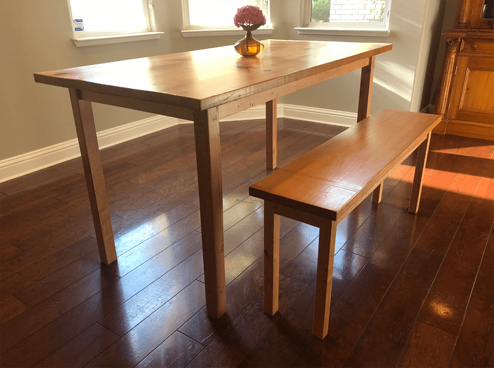 reclaimed wood table, wood table, dining room table, harvest table, farmhouse table, cottage table, modern table, contemporary table, rustic table, barn wood furniture, urban garden studio