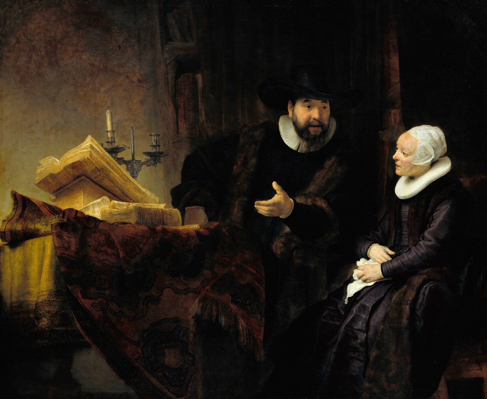 Rembrandt - The Mennonite Preacher Anslo and his Wife