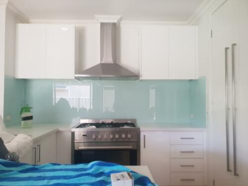 Green Painted Splashback