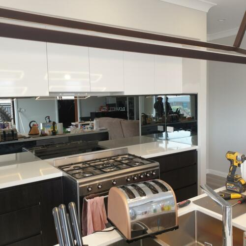 Grey Mirror Splashback