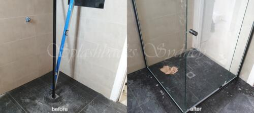 Corner Semi Frameless Shower Screen