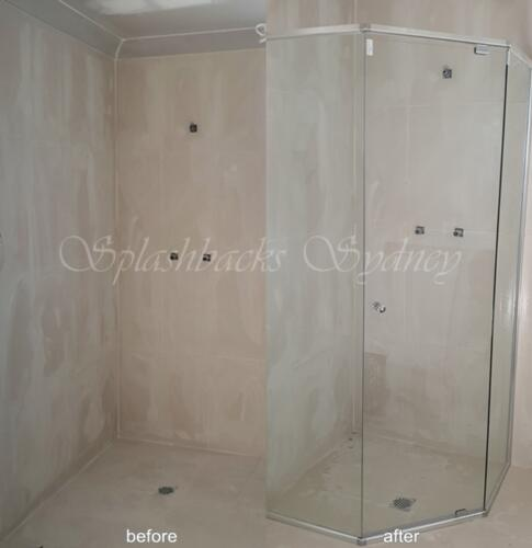Diamond Semi Frameless Shower Screen