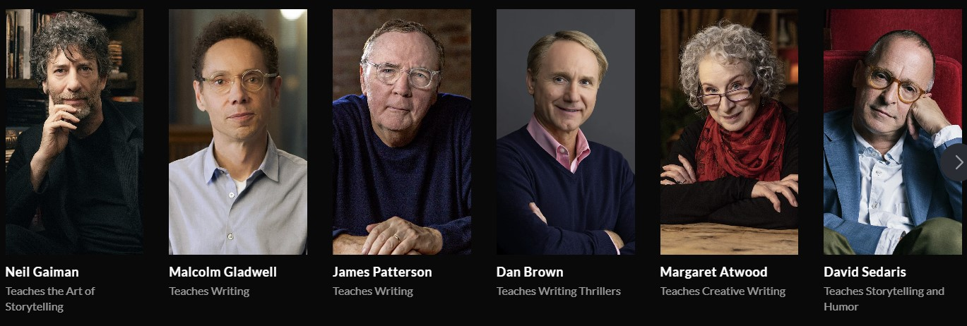 MasterClass Review- James Patterson, Dan Brown, Malcolm Gladwell
