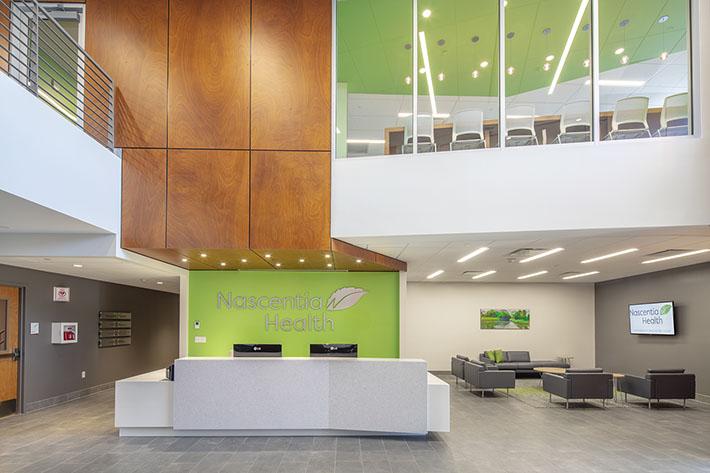 Nascentia Health Headquarters Reception Area