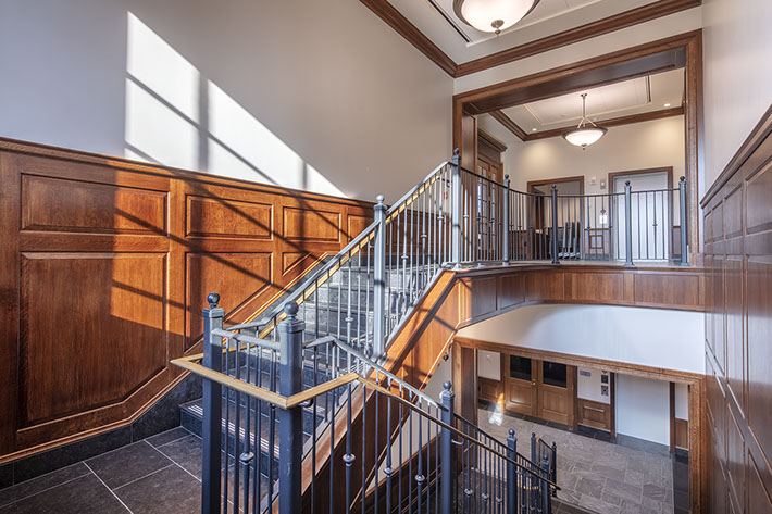 Colgate University Benton Hall Staircase