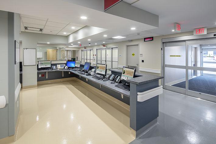 Crouse Health Hallway