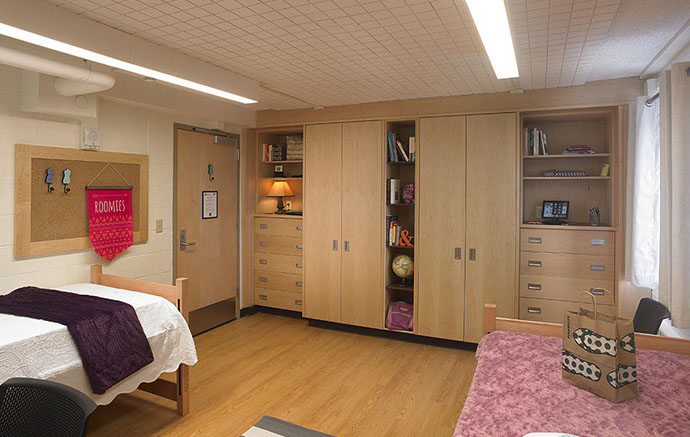Syracuse University Dorm Closets