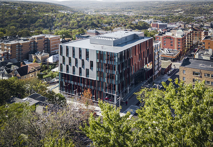 Cornell University Business Education Building Aerial View