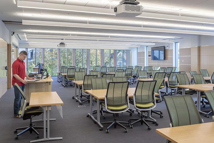Cornell University Business Education Building Classroom