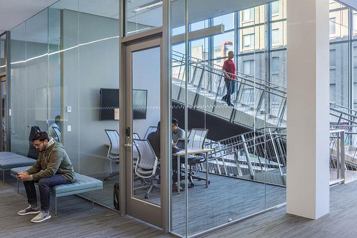 Cornell University Business Education Building Foyer