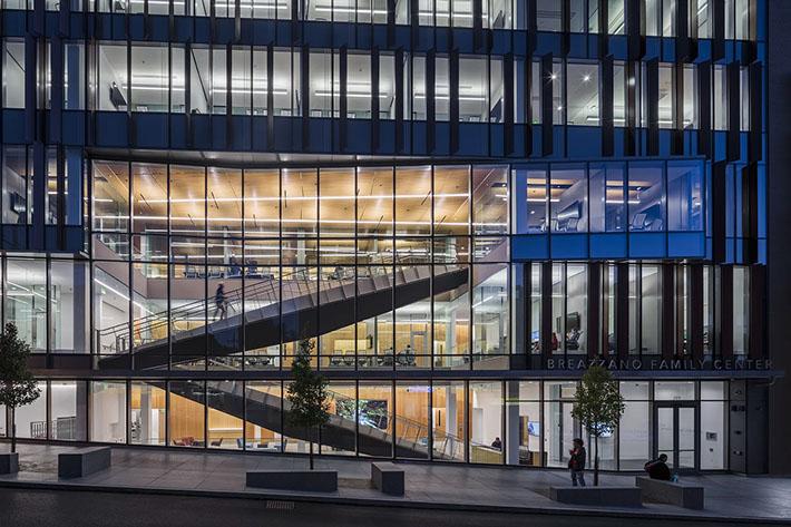 Cornell University Business Education Building Outdoor Entrance