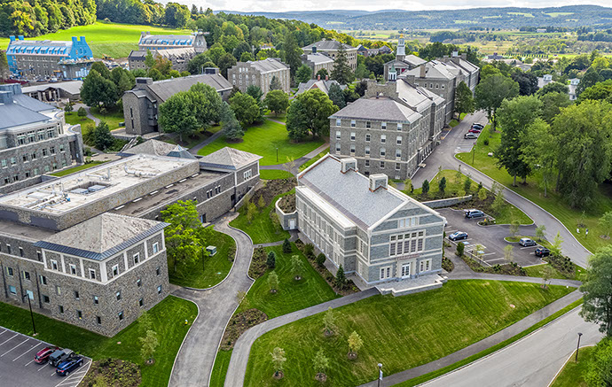 Colgate University Benton Hall Aerial View