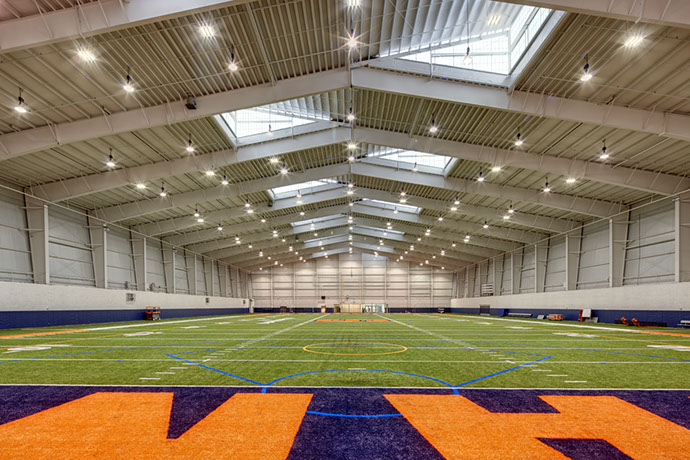 Syracuse University Ensley Athletic Center Field From End Zone
