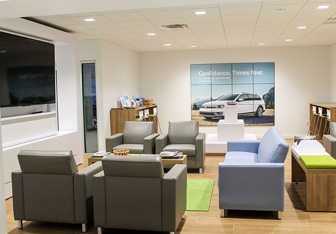 NYE Volkswagen Dealership Waiting Room